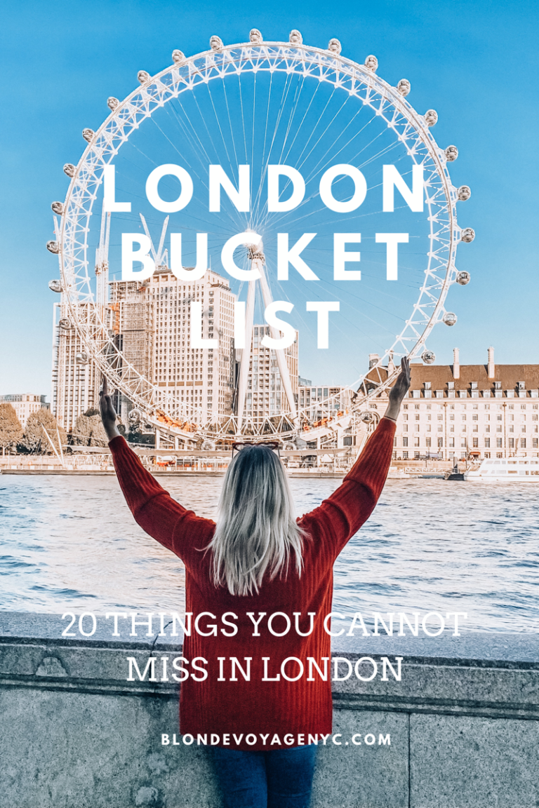 TOP 20 THINGS TO DO IN LONDON